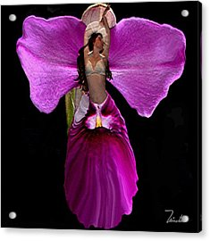 Orchid Acrylic Print by Andrea N Hernandez