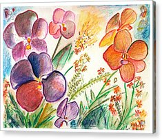 Orchid No. 12 Acrylic Print by Julie Richman