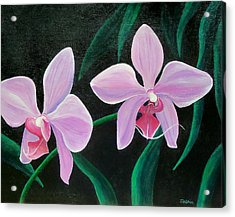 Acrylic Print featuring the painting Orchids by Susan DeLain