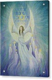 Order Of Melchizedek  Acrylic Print by Bernadette Wulf