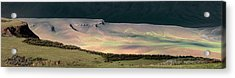 Acrylic Print featuring the photograph Oregon Canyon Mountain Layers by Leland D Howard