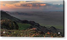 Acrylic Print featuring the photograph Oregon Canyon Mountain Views by Leland D Howard
