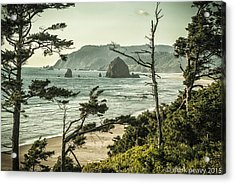Oregon Coast At Sunset Acrylic Print