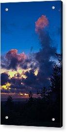 Oregon Coast Clouds Acrylic Print