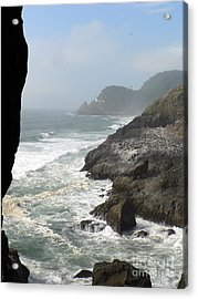 Acrylic Print featuring the photograph Oregon Coast by Larry Keahey