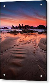 Oregon Coastal   Sunrise Acrylic Print by Andrew Soundarajan