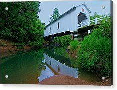 Oregon Covered Bridge Acrylic Print