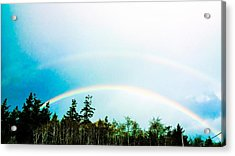 Oregon Double Rainbow Acrylic Print