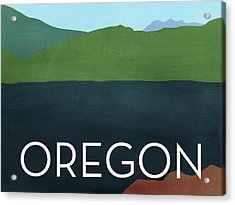 Oregon Landscape- Art By Linda Woods Acrylic Print by Linda Woods