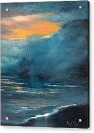 Oregon Lighthouse Acrylic Print by Sally Seago