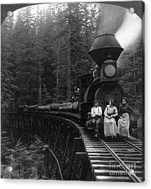 Oregon: Logging Train Acrylic Print by Granger