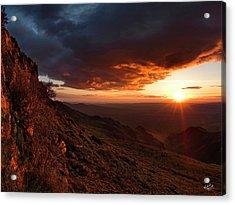 Oregon Mountains Sunrise Acrylic Print