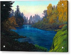 Oregon Santiam Landscape Acrylic Print by Michael Orwick