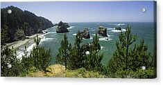 Oregon Seascape Acrylic Print by Rob Wilson