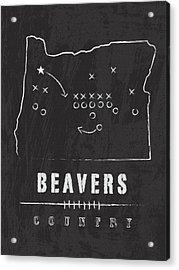 Oregon State Beavers Country Acrylic Print
