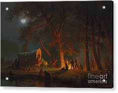 Oregon Trail Acrylic Print by Albert Bierstadt