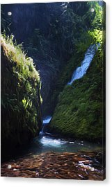 Oregon Waterfall Acrylic Print