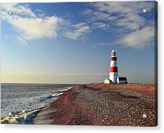 Orford Ness Lighthouse Acrylic Print by Photo by Andrew Boxall