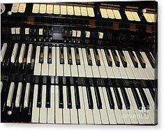 Hammond Organ Keys Acrylic Print