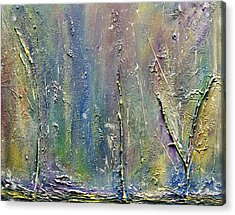 Acrylic Print featuring the painting Organic Fantasy Forest by Dolores  Deal