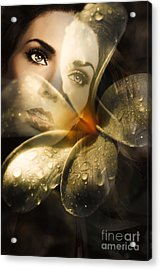 Organic Makeup And Skincare Girl Acrylic Print by Jorgo Photography - Wall Art Gallery