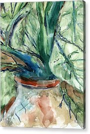 Acrylic Print featuring the painting Organic by Marilyn Barton