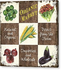 Organic Market Patch Acrylic Print by Debbie DeWitt