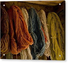 Organic Yarn And Natural Dyes Acrylic Print by Wilma  Birdwell