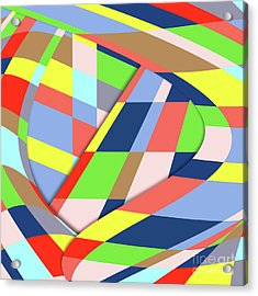 Acrylic Print featuring the digital art Organized Cubic Chaos by Bruce Stanfield