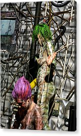 Orgomechanic Deirdreellanor Acrylic Print by Leigh Odom