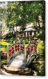 Orient - Bridge - The Bridge To The Temple  Acrylic Print by Mike Savad
