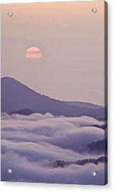 Oriental Blue Ridge Sunrise Acrylic Print by Rob Travis