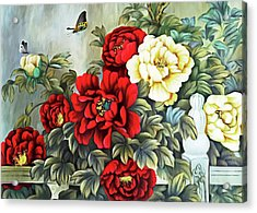Acrylic Print featuring the photograph Oriental Flowers by Munir Alawi