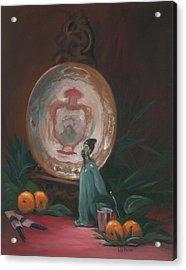 Oriental Plate Acrylic Print by Liz Rose