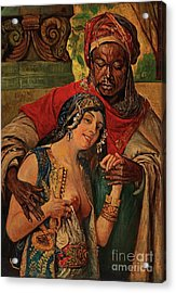 Acrylic Print featuring the painting Orientalisches Paar  by Pg Reproductions