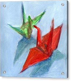 Origami Cranes Acrylic Print