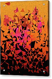 Origami Acrylic Print by Susan Maxwell Schmidt