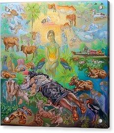 Origin Of The Goddess Acrylic Print by Simon Drost