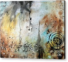 Original Abstract Acrylic Painting On Canvas Desert Surroundings By Megan Duncanson Acrylic Print