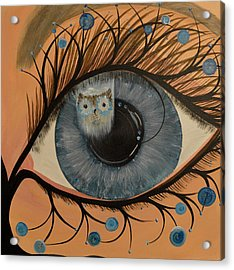 Original Acrylic Artwork By Mimi Stirn - Hoomasters Collection Hoodali #412 Mimi's Self Portrait Acrylic Print