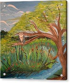 Original Acrylic Artwork By Mimi Stirn - Hoomasters Collection Hoomonet #413 Acrylic Print