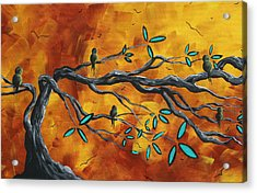 Original Bird Landscape Art Contemporary Painting After The Storm II By Madart Acrylic Print by Megan Duncanson