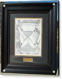 Original-hourglass-framed Acrylic Print
