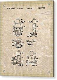 Original Lego Man Patent Acrylic Print by Dan Sproul