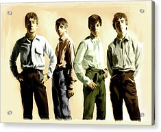 Original Punk The Beatles Acrylic Print by Iconic Images Art Gallery David Pucciarelli