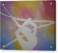Original Rhythmic Gymnast 5 Acrylic Print by H George Vandeveer