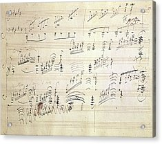Original Score Of Beethoven's Moonlight Sonata Acrylic Print