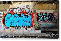 Orin        ' Graffiti ' Acrylic Print by Urban Artful