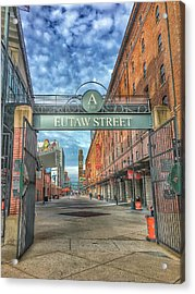 Oriole Park At Camden Yards - Eutaw Street Gate Acrylic Print