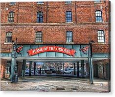 Oriole Park At Camden Yards - Sign Acrylic Print